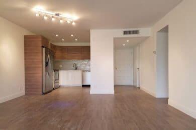 Kitchen and hallways