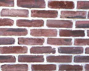 red black brick veneer