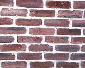 red black brick veneer