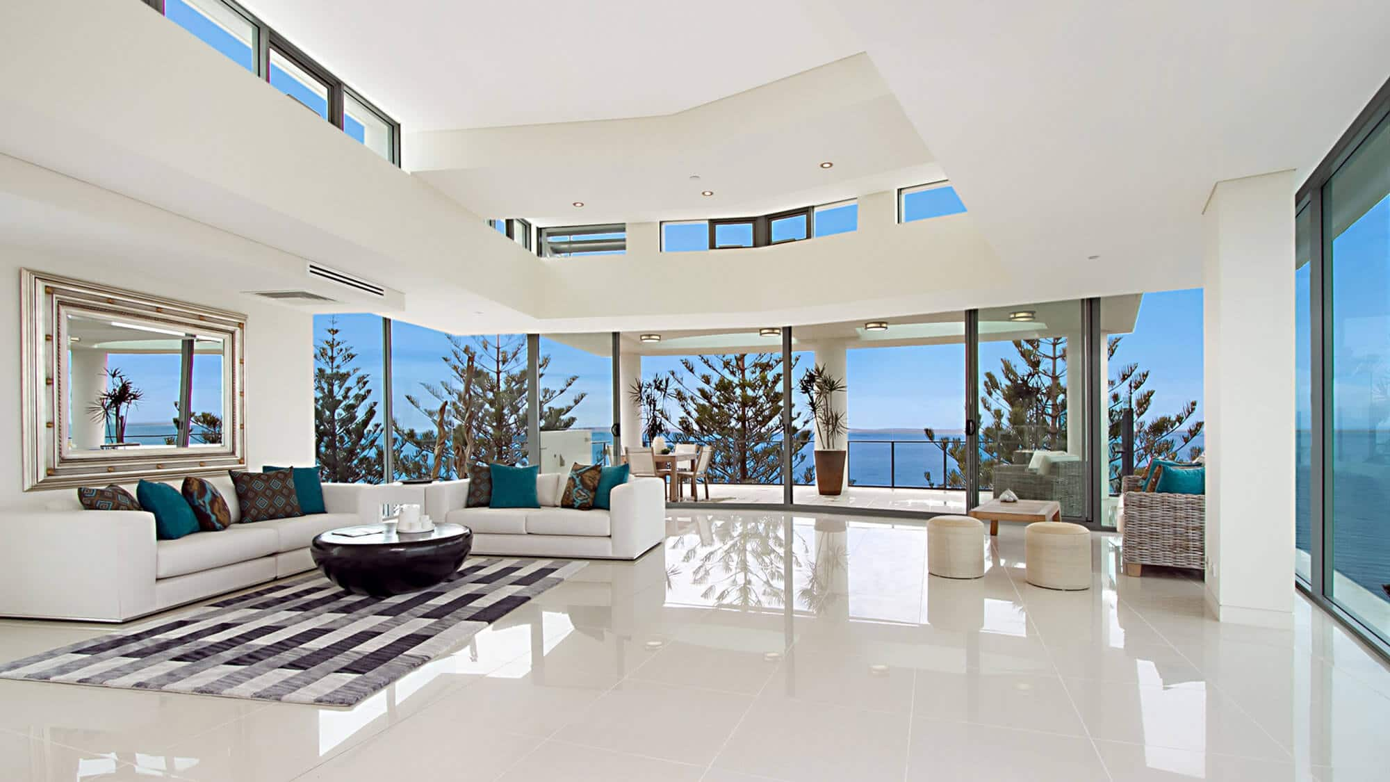 White themed interior house