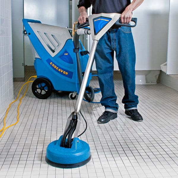 Tile cleaner with vacuum