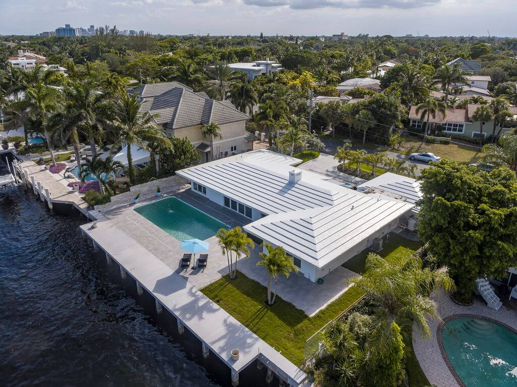 Mansion with Pool Top View