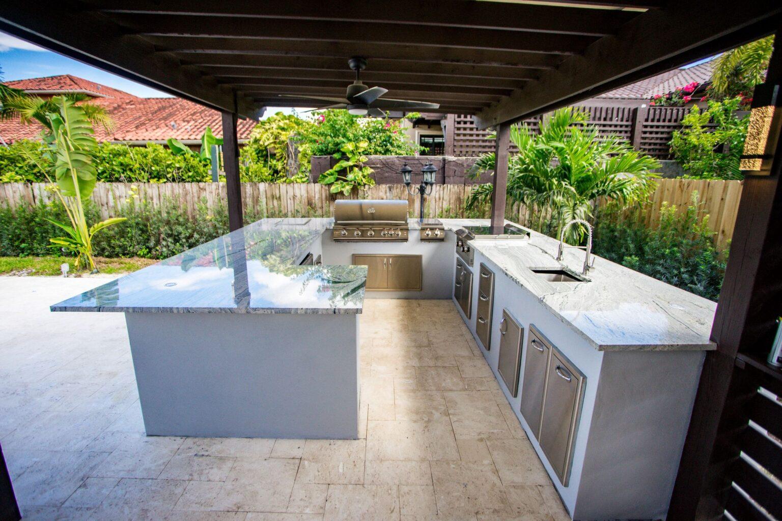 Outdoor Kitchen Miami Miami Tile Renovation