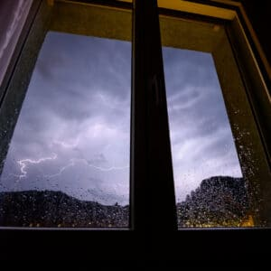 storm and window